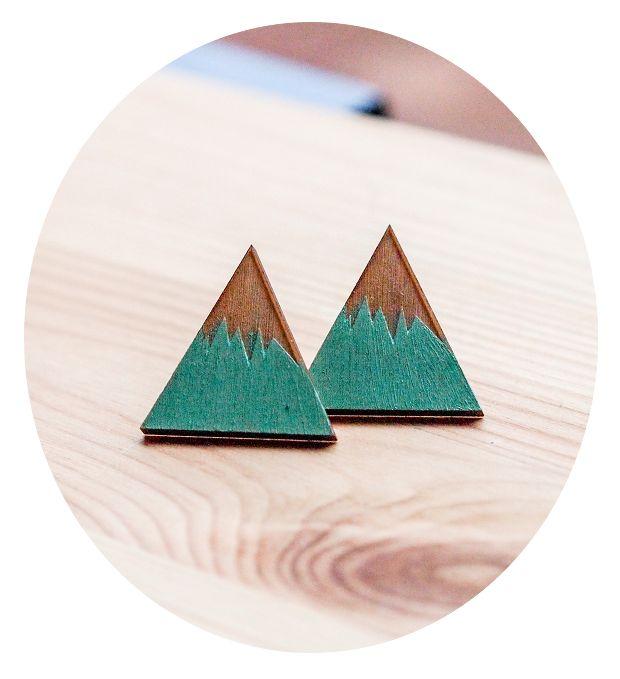Image of Mountain earrings mint