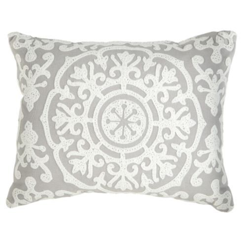 buy tesco medallion embroidered cushion from our cushions. Black Bedroom Furniture Sets. Home Design Ideas