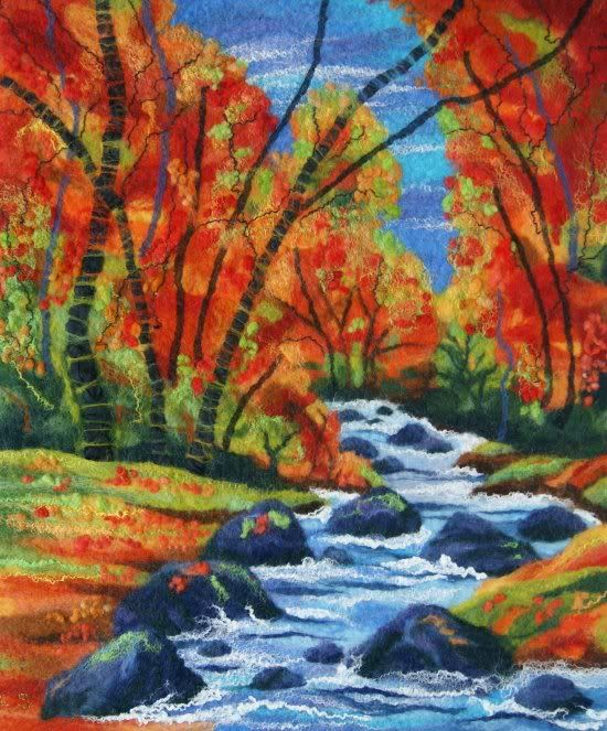 Ali Scott Ceredigion Art Trail Felt Paintings Felt