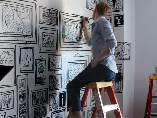 ACE Hotel Inspiration: DIY Mural | Musings -Follow our blog @ http://gilltypleasure.com