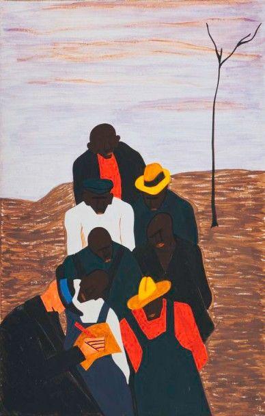 """JACOB LAWRENCE Jacob Lawrence (7 sept 1917 a 9 jun 2000) fue un estadounidense pintor, que estaba casado con la también artista Gwendolyn Knight.Su estilo es reconocido como """"cubismo dinámi…"""