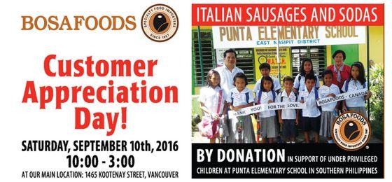 Customer Appreciation Day September 10th! -