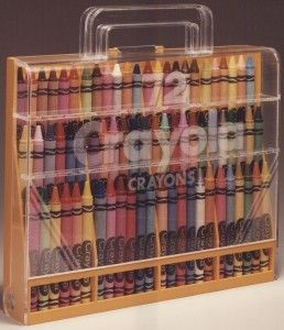 Old school crayon carrier.  I spent hours organizing crayons by color until I left them in the car and they melted!