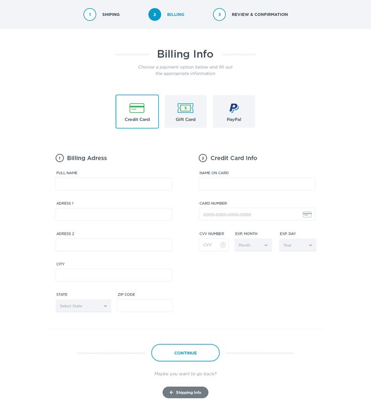Checkout Billing Information by Simon Alexander