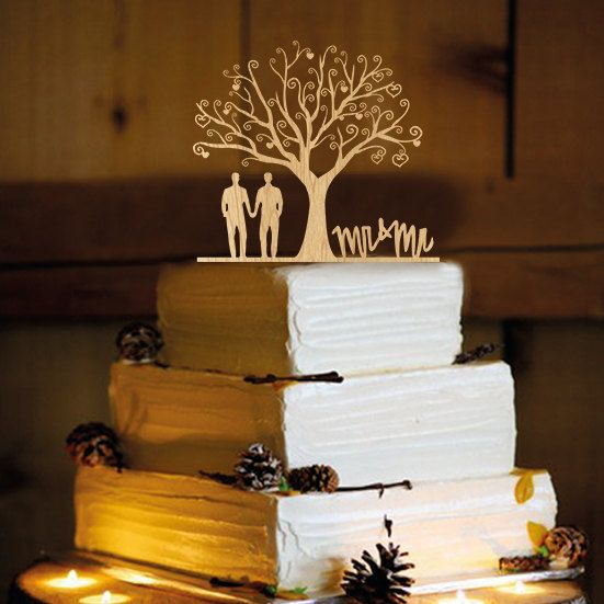 Hey, I found this really awesome Etsy listing at https://www.etsy.com/listing/241888276/gay-men-wedding-cake-topper