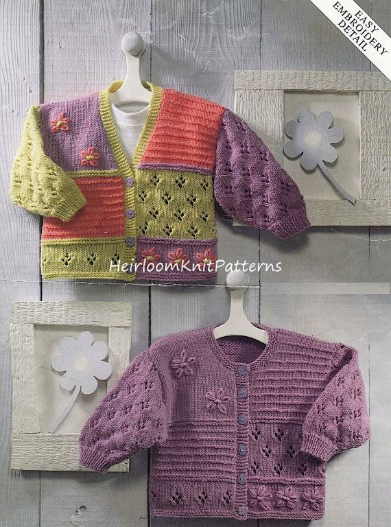 421 0-6yrs Baby/ Toddler/ Girls Pretty by HeirloomKnitPatterns