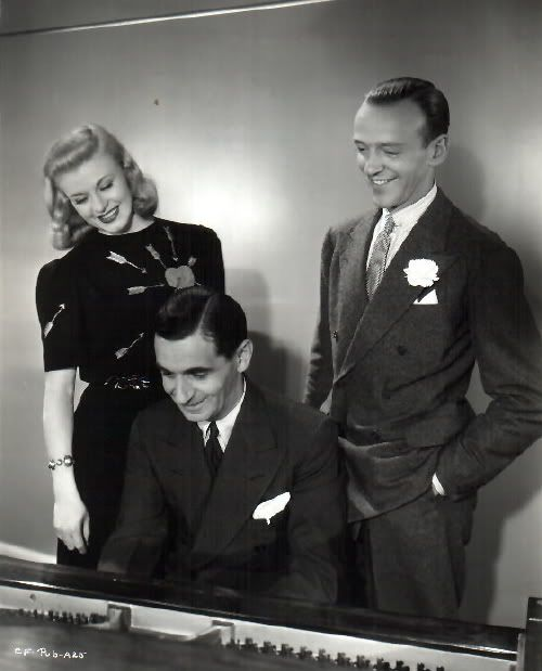 Ginger Rogers, Irving Berlin and Fred Astaire - (1938)