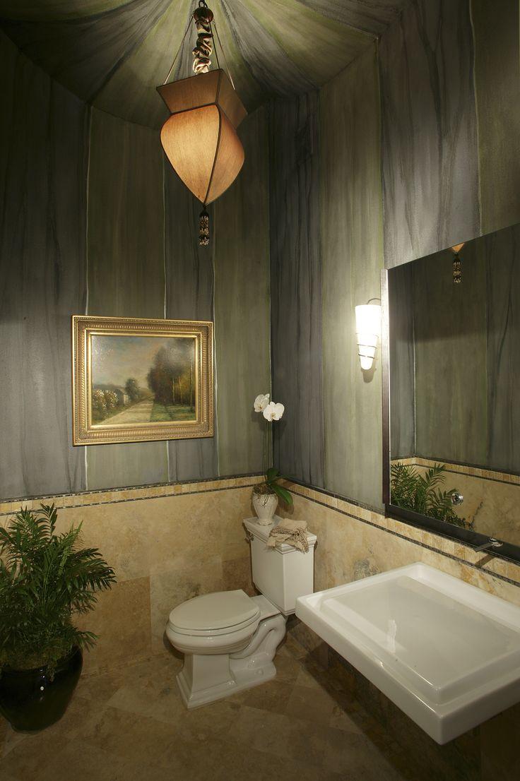 Nice Give your small bathroom a modern look with dark grey wallpaper frameless mirror tile Bad Renovieren KostenBad renovationenWaschbeckenBadezimmer