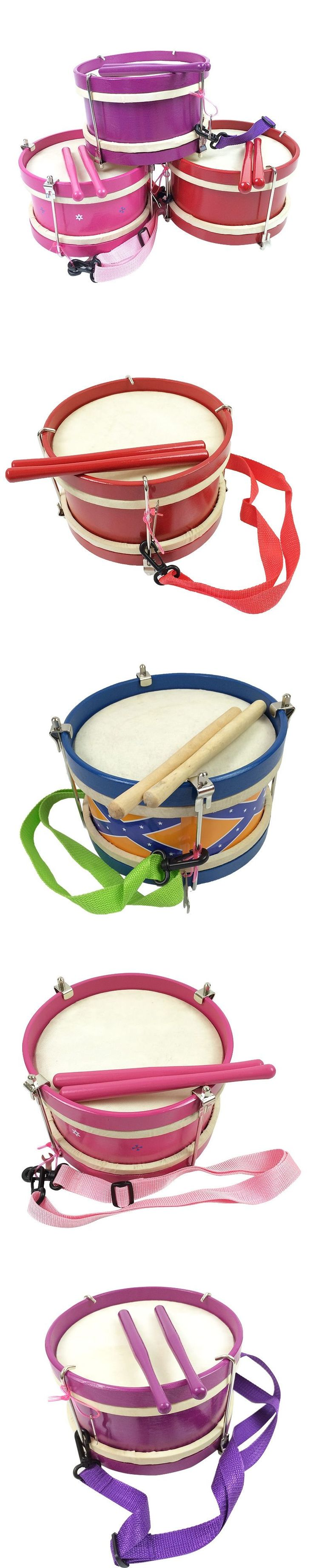 kids wooden drum toy musical instrument good gift for child baby toy 3 colors 20cm #AwesomeDrummers
