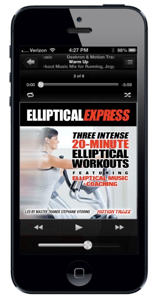 We'll never get bored on the elliptical again thanks to these 20-min HIIT workouts from MotionTraxx! #sponsored