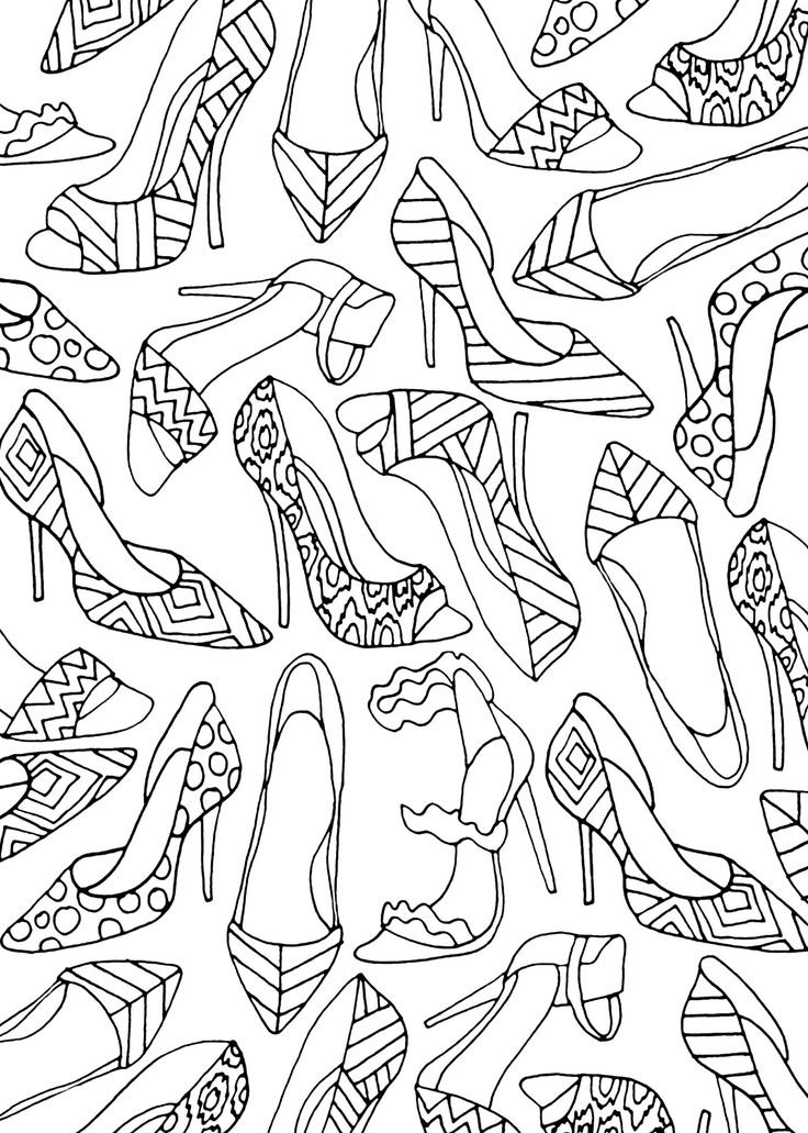 The Portable Adult Coloring Book - Fashion Designs (31 Stress-Relieving Designs)…