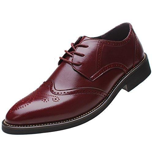 Oferta: 72€ Dto: -53%. Comprar Ofertas de Shenn Estilo Británico Hombres Moda Oxfords Borgoña Brogue Vestir LosZapatos de Cuero 856 EU45 barato. ¡Mira las ofertas!