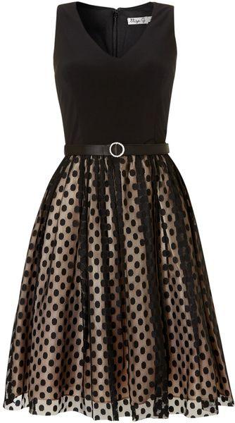 Black Spot Mesh Skirt Dress - Love this!!!