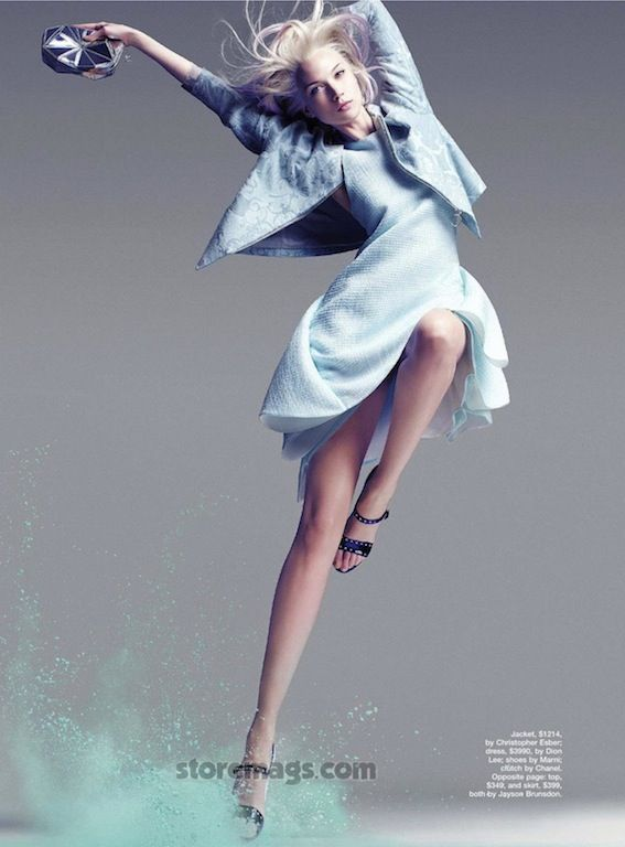 """""""A Study in Pastel"""": Olivka by Troyt Coburn for Marie Claire Australia"""
