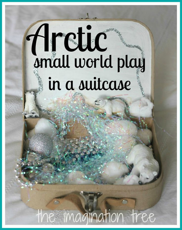 Create a small world play scene in a mini suitcase! A perfect, low-cost gift for imaginative kids and great for play on-the-go!