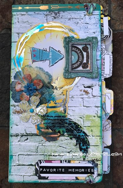 "Karen Bearse Designs: Eileen Hull Journal with Bo Bunny ""Life in Color""...."