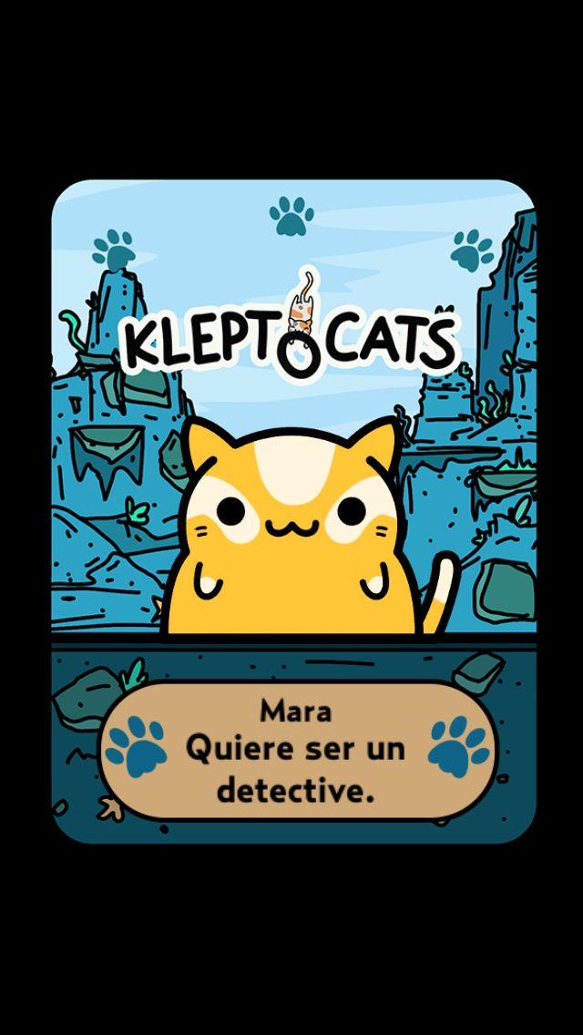 """Aquí está mi nuevo amigo """"Mara"""" #KleptoCats @HyperBeard #iOS www.kleptocats.com/share"""