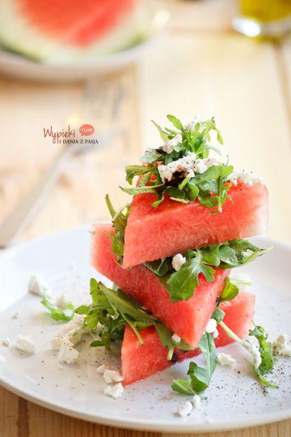 Sałatka arbuzowa z fetą/watermelon feta salad