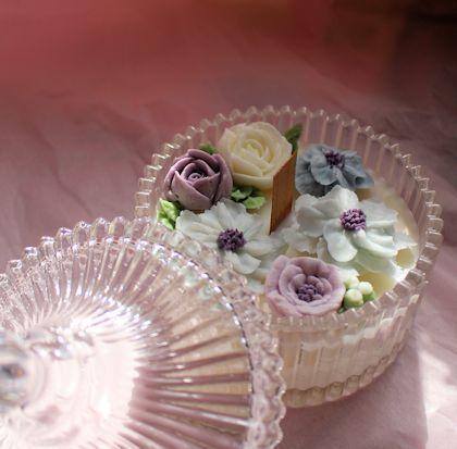 キャンドルでお花絞り|新潟 手作り石鹸の作り方教室 アロマセラピーのやさしい時間