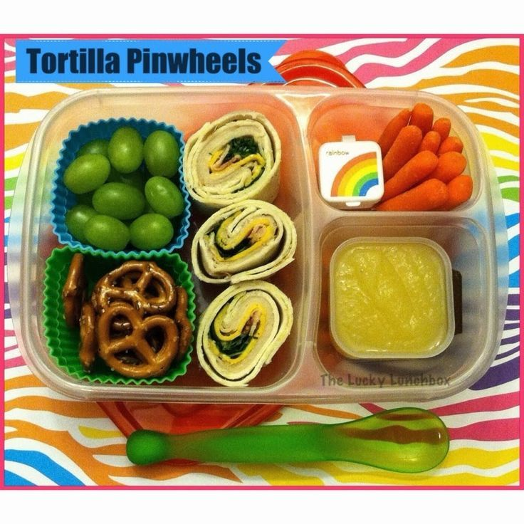Turkey Tortilla Pinwheels packed for lunch!   with @EasyLunchboxes