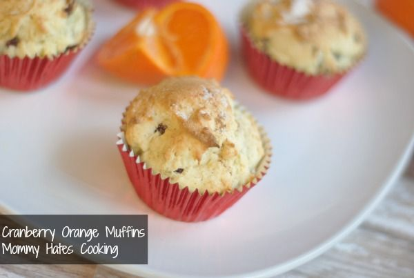 Cranberry Orange Muffins with Silk Soy Milk
