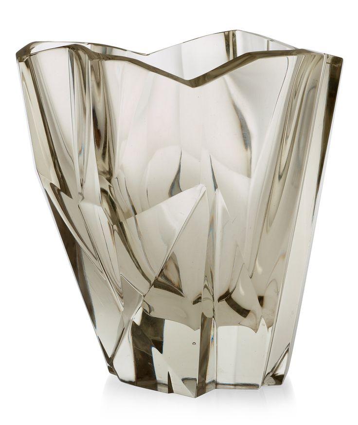 Tapio Wirkkala 'Iceberg' glass vase, iittala, Finland, 1950's-60's, model 3825