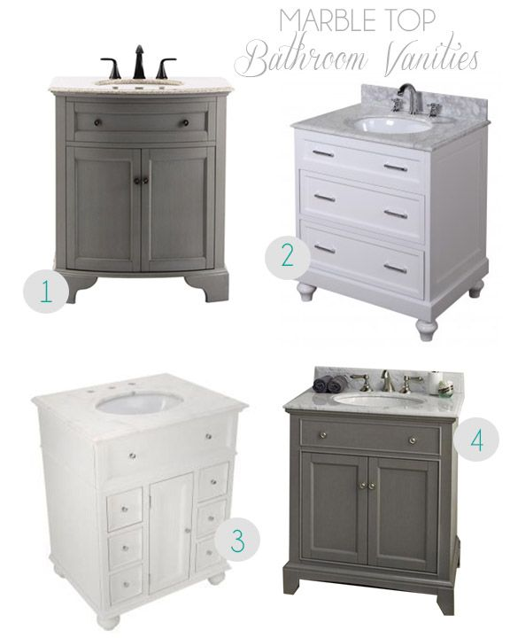 Marble Top Bathroom Vanities