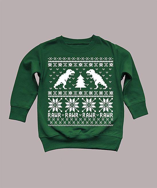 Kids Dinosaur Sweater Sweatshirt I Want One For Me Cracks Me