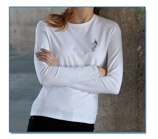 SeaHorse-Collection, women's long-sleeve round neck T-shirt, 39,99€