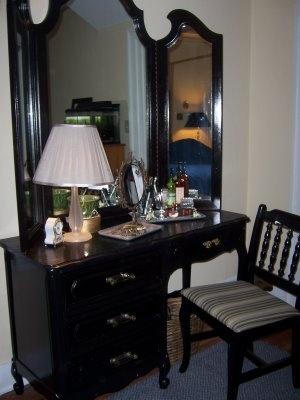 DIY Cream and gold refurbished desk.