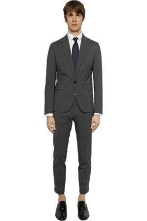 Men Suits - Dsquared2 TOKYO STRETCH WOOL GABARDINE SUIT