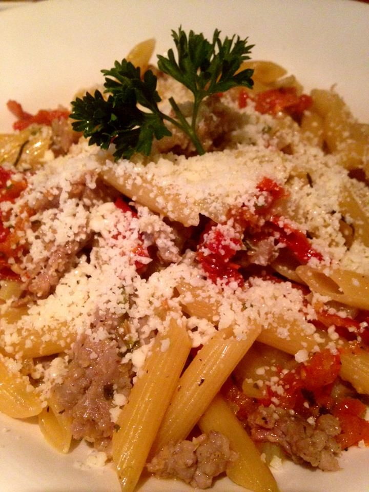 Penne con Finocchietto made with Penne, sausage, pan roasted fennel ...