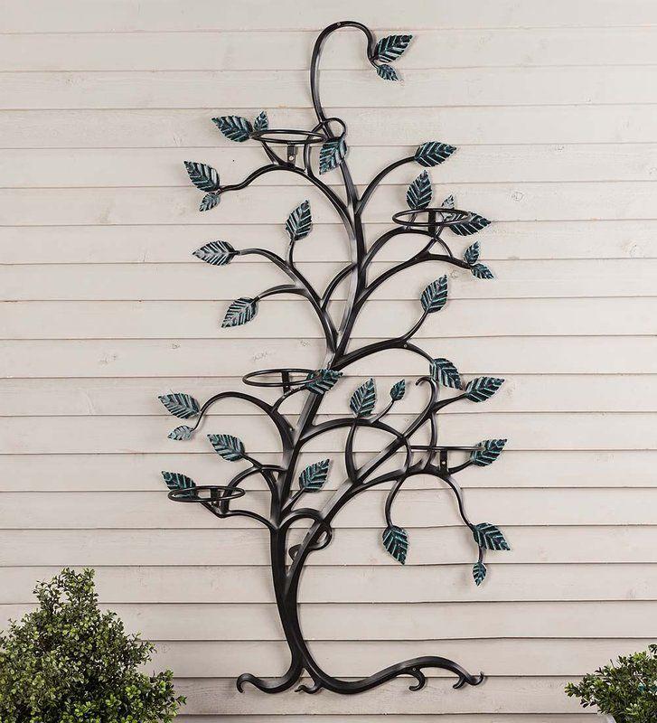 Plow Hearth Tree Metal Trellis Reviews Wayfair Metal Tree Wall Art Metal Trellis Metal Garden Art