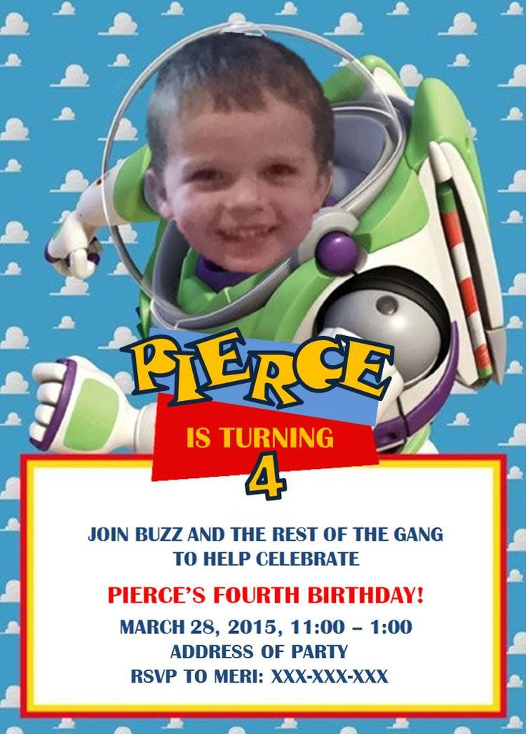 Toy Story Invitation that I created for Pierce's 4th Birthday. It is amazing what you can do with Powerpoint and Paint and a little time!