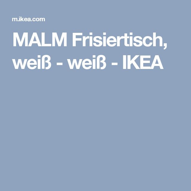 Ikea Unterbettkommode Degernes ~   about Malm Frisiertisch on Pinterest  Frisiertisch, Malm and Ikea