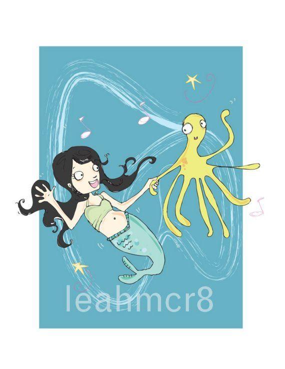 Mermaid Dance Print by leahmcr8 on Etsy