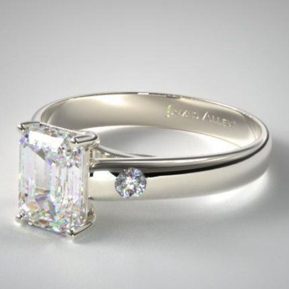 Build the best custom engagement rings like the one below. This is an emerald shape diamond with a solitaire ring setting. Learn where you get the best price on the best quality. Https://best1caratdiamondrings.com