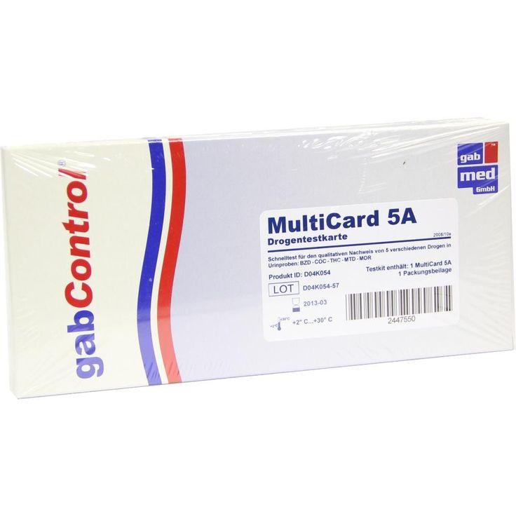 DROGENTEST Multi Param 5A Testkarte:   Packungsinhalt: 1 St Test PZN: 02447550 Hersteller: gabmed GmbH Preis: 13,70 EUR inkl. 19 % MwSt.…
