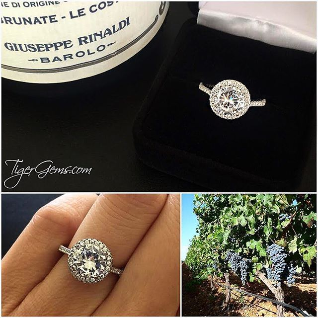 happyanniversary to my clients and thank you so much for these photos of her 225 ctw classic halo ring shop now at - Wedding Ring Shop