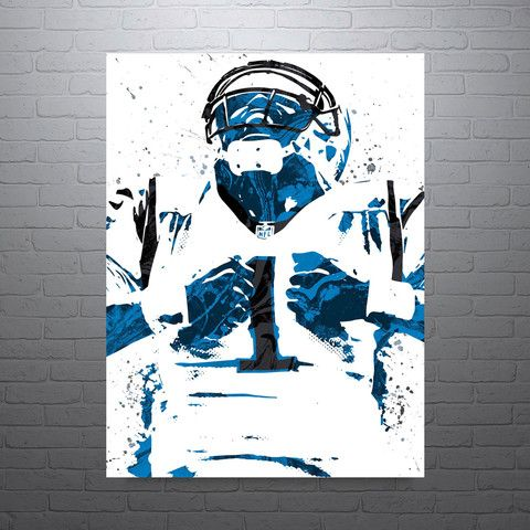 Cam Newton poster. Newton is an American football quarterback for the Carolina Panthers of the National Football League (NFL). He played college football at Auburn and was drafted as the first overall