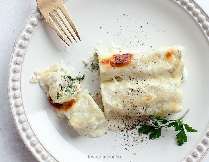 Cannelloni ze szpinakiem i szynką w sosie serowym