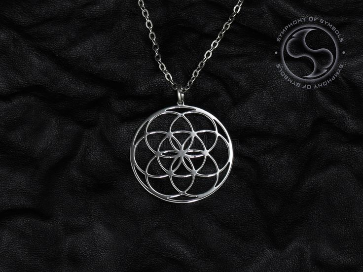 Seed of Life Symbol Pendant Stainless Steel Jewelry Flower of Life Necklace Keychain Logo Emblem Amulet Talisman Charm Sign Sigil Medallion