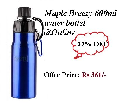 Maple Breezy 600 ml Water Bottel Online @ 27 % Off  Click here : http://goo.gl/s1FuA7
