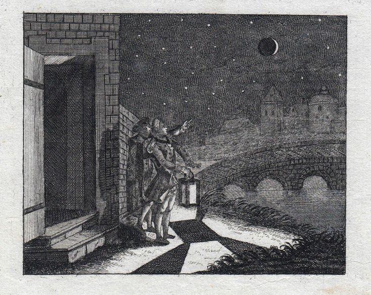 Mondfinsternis ORIGINAL 1775 - Éclipse Lunaire Eclissi Lunare Maansverduistering