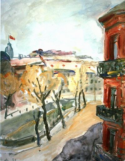 "Роберт Фальк ""Ленинград. Канал Грибоедова"" 1939"