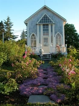 Lavender Cottage - Nova Scotia  Looks more like a church?? Love it though