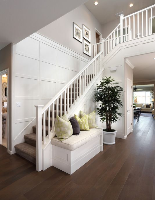 Best Home Stairs Cathedral Ceiling Traditional White 400 x 300