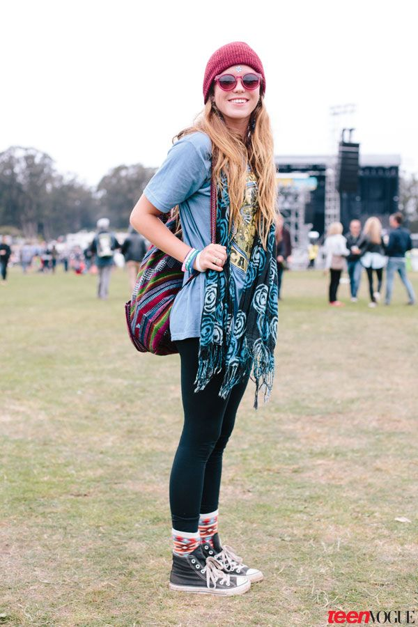 San Francisco Shows off Festival Style (with a Chilly Twist!) at Outside Lands;  Elevate your sneaks with stylish socks and a complementary tapestry-like backpack.