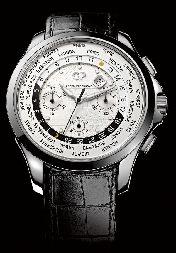 Girard-Perregaux Traveller WW.TC And Moon Phase #Girard-Perregaux #watch