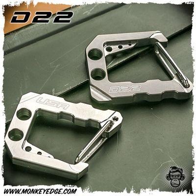 Monkey Edge••D22 Titanium Small Carabiner